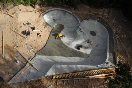 Birds Eye View- Skørping Skatepark Build