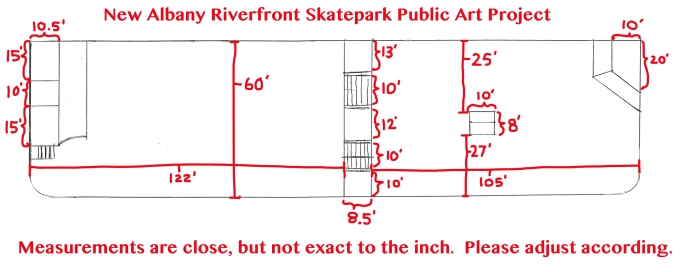 New Albany Skatepark floorplan