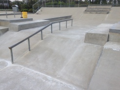 New Rails in the Carmel Skatepark, Indiana