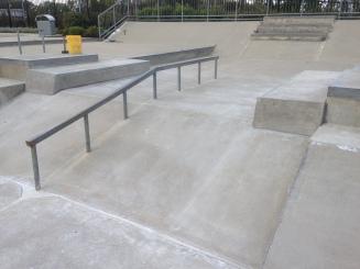 New Rails in the Carmel Skatepark, Indiana