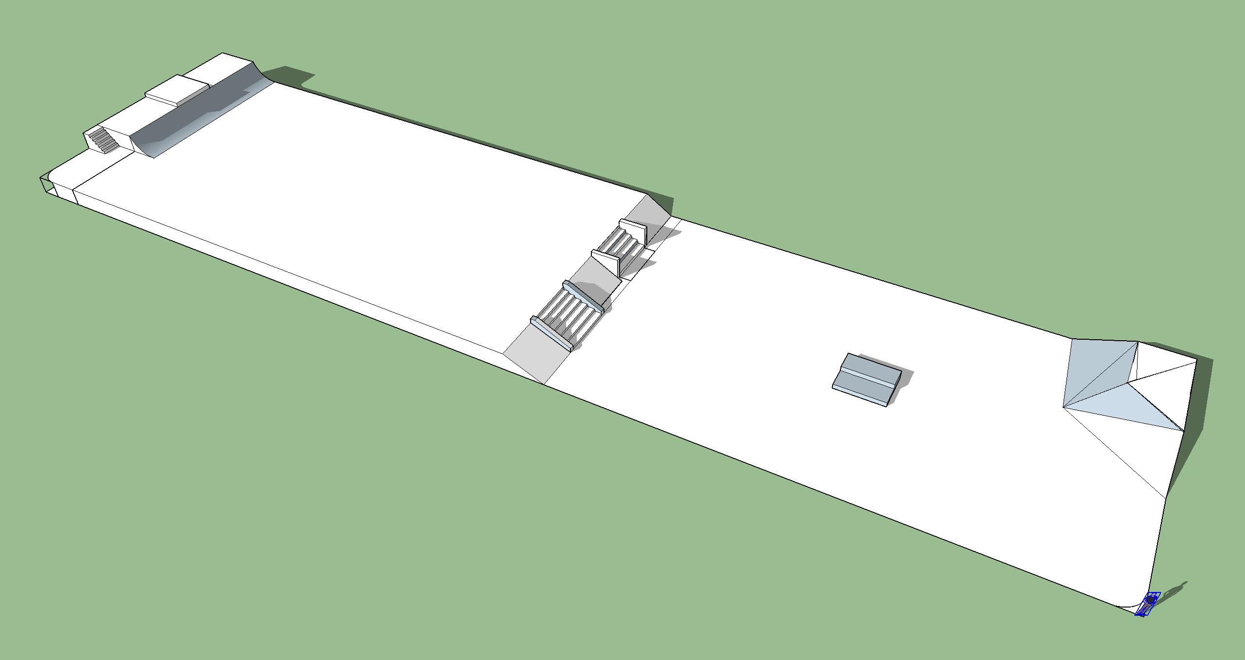 Skatepark Model view towards SE