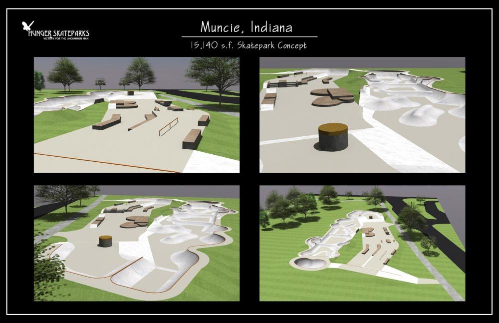 Muncie Skatepark Concept