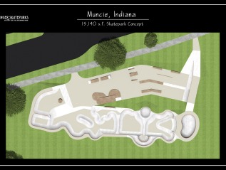 Design- Muncie, IndianaSkatepark