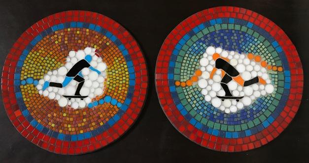 New Castle Skatepark Mosaics by Christy Wiesenhahn