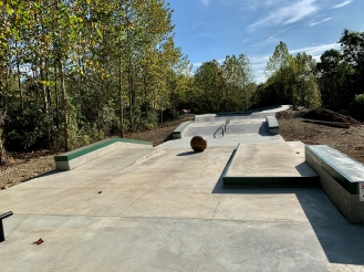 Nashville,IN Skatepark View to Bowl