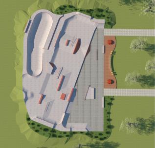 2019 Build- Jolie Crider Memorial Skatepark 2.0 Columbus,Indiana