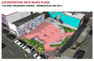 2019 Build: Juxtaposition Arts Plaza Minneapolis,MN