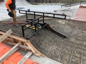 Kokomo Skatepark Middle Rails