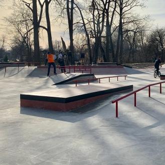 Kokomo Skatepark Rails Boxes