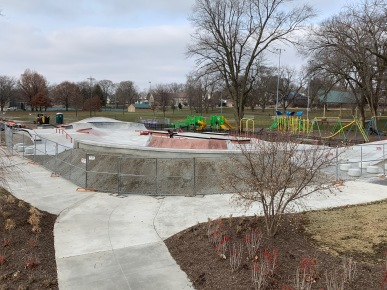 Kokomo Skatepark View from Path